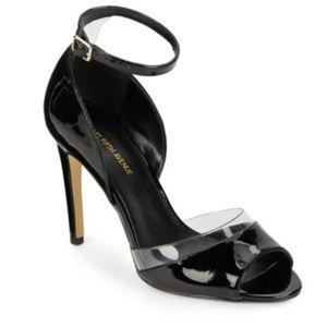 Saks Fifth Avenue Black Remmie Peep Toe Heels 8.5